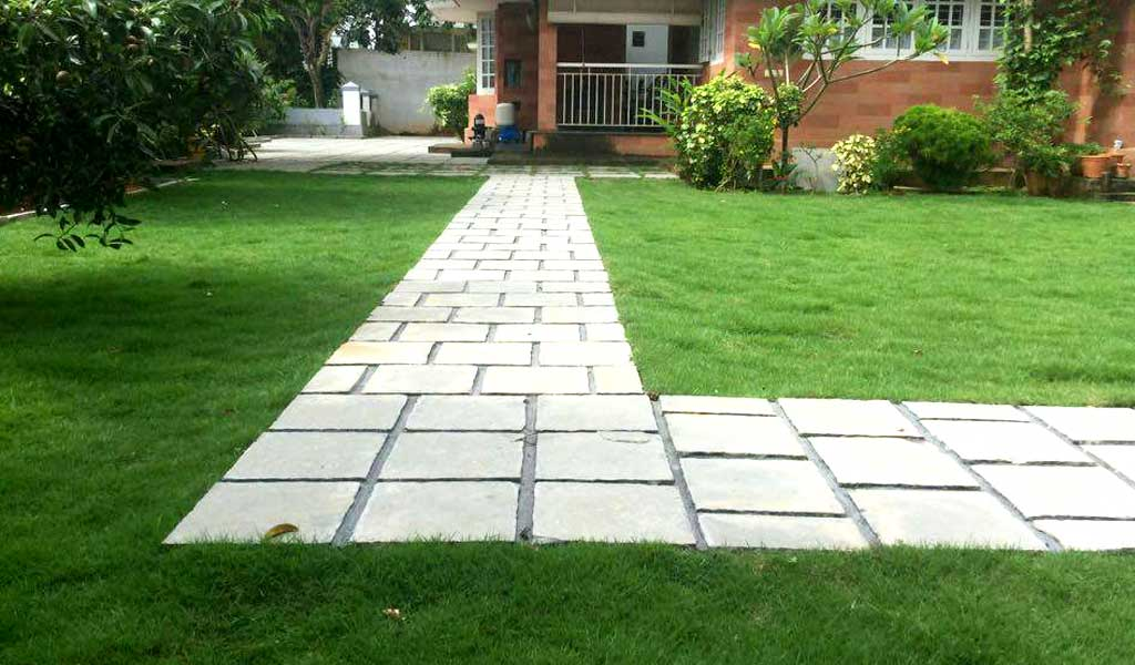 Outdoor stone paving in kerala joy studio design gallery for Kerala style garden designs